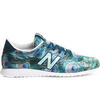 New Balance U420 Peacock Patterned Trainers Peacock Green