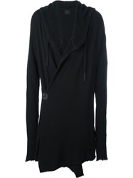 Lost And Found Ria Dunn Wrap Knitted Hooded Coat Black