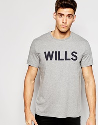 Jack Wills Graphic T Shirt In Grey Marl Greymarl