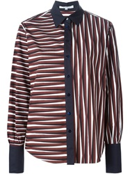 Carven Striped Shirt Red