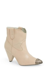 Plomo 'Sienna' Leather Boot Women Beige