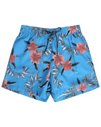 Tommy Hilfiger Blue Palm Flowers Swim Shorts