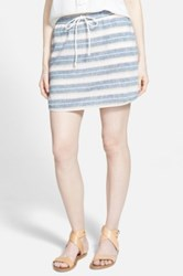 Hinge Stripe Skirt Blue