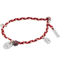 Marc Jacobs Macrame Charm Bracelet Red Silver