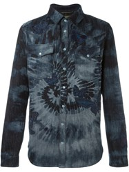 Valentino Tie Dye Butterfly Shirt Blue