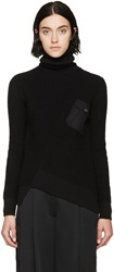 Marc By Marc Jacobs Black Silk Angled Knit Sweater