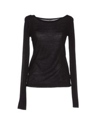 Paolo Pecora Long Sleeve Sweaters Black