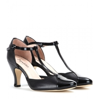 Repetto Baya Leather T Bar Pumps Noir