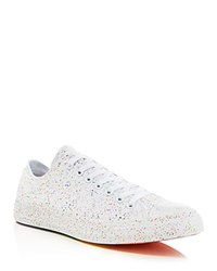 Converse Chuck Taylor All Star Rainbow Lace Up Sneakers White Multi