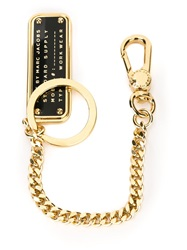 Marc By Marc Jacobs Logo Plaque Keychain Metallic