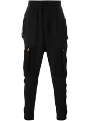 Blood Brother Zipped Pockets Sweatpants Black