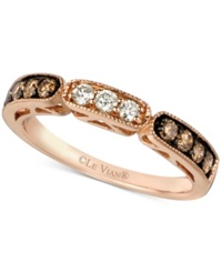 Le Vian Chocolate And White Diamond Band In 14K Rose Gold 3 8 Ct. T.W.