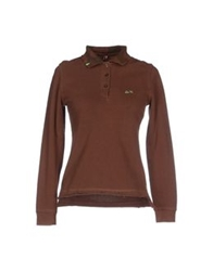 Sun 68 Polo Shirts Cocoa