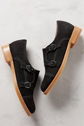 All Black Monk Buckled Oxfords Black