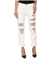 Blank Nyc White Relaxed Straight Ripped In As If As If Women's Jeans