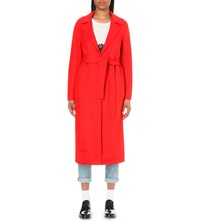 Claudie Pierlot Gracie Wool Coat Coquelicot