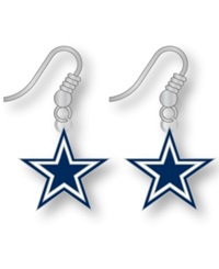 Aminco Dallas Cowboys Logo Drop Earrings Team Color