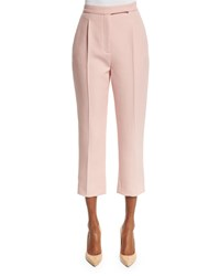Valentino Pleated Front Cropped Pants Blush