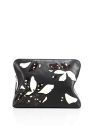 3.1 Phillip Lim 31 Minute Leather Cosmetic Zip Case Black White