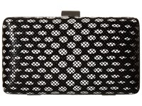 Jessica Mcclintock Noelle Dot Mesh Clutch Black White Clutch Handbags