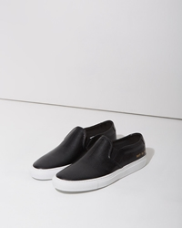 Woman By Common Projects Perforated Slip On Sneaker Black