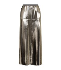 Stella Mccartney Carmen Pleated Coated Long Skirt Female Black