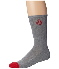 Volcom Full Stone Heather Socks Heather Grey Men's Crew Cut Socks Shoes Gray