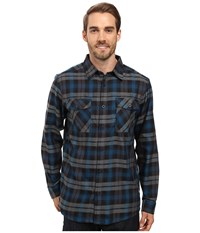Mountain Hardwear Trekkin Flannel Long Sleeve Shirt Phoenix Blue Men's Long Sleeve Button Up