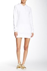 American Apparel California Fleece Pullover Hoodie Dress White
