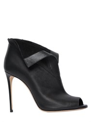Casadei 100Mm Open Toe Leather Ankle Boots