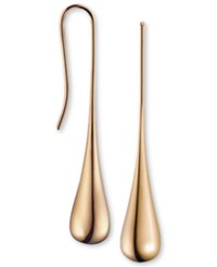 Calvin Klein Ellipse Rose Gold Tone Pvd Stainless Steel Drop Earrings Kj3qpe100100