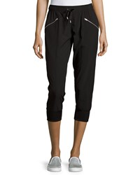 Marc New York Marc Ny Performance Zip Pocket Cropped Jogger Pants Black