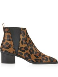 Whistles Belmont Pointed Leopard Print Chelsea Boots Leopard