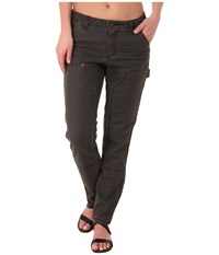 Carhartt Slim Fit Double Front Canvas Dungaree Jeans Shadow Women's Jeans Brown