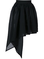 Y 3 Draped Asymmetric Skirt Black