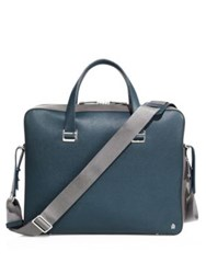 Dunhill Bourdon Single Document Calfskin Leather Case Blue