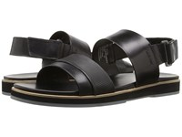 Calvin Klein Dex Black Stud Emboss Leather Men's Sandals