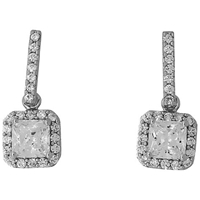 Jools By Jenny Brown Long Bar Square Cubic Zirconia Drop Earrings