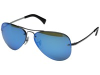 Ray Ban Rb3449 Gunmetal Light Green Mirror Blue Metal Frame Fashion Sunglasses