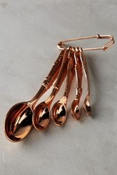 Anthropologie Rediscovered Measuring Spoons Shiny Copper