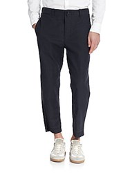 Rag And Bone Wilson Cropped Cotton Trousers Black