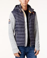 Superdry Men's Storm Quilted Hybrid Jacket Grey Grit