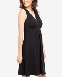 Motherhood Maternity Nursing Nightgown Black