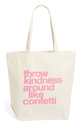 Dogeared 'Big' Canvas Tote Beige Throw Kindness
