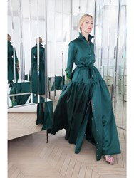 Alexis Mabille Long Shirt Dress In Emerald Green Radzimir With