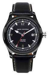 Jack Mason Brand Men's Nautical Leather Strap Watch 42Mm