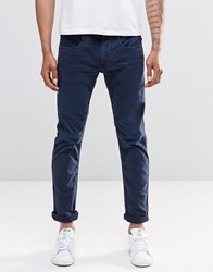 Replay Anbass Slim Jeans In Blue Overdye Blue