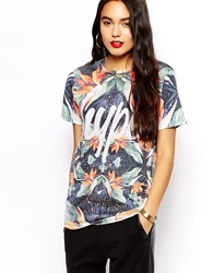 Hype T Shirt With Organic Mirrored Print Multi