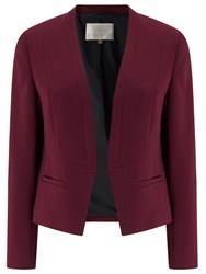 Jacques Vert Angular Crepe Jacket Red