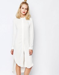 Sams0e And Sams0e Samsoe And Samsoe Elme Longline Shirt Dress Clear Cream